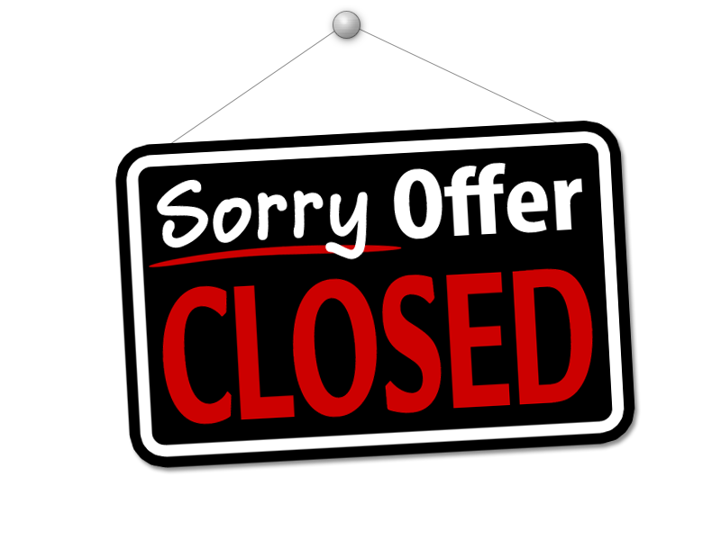 Resultado de imagen de sorry offer closed